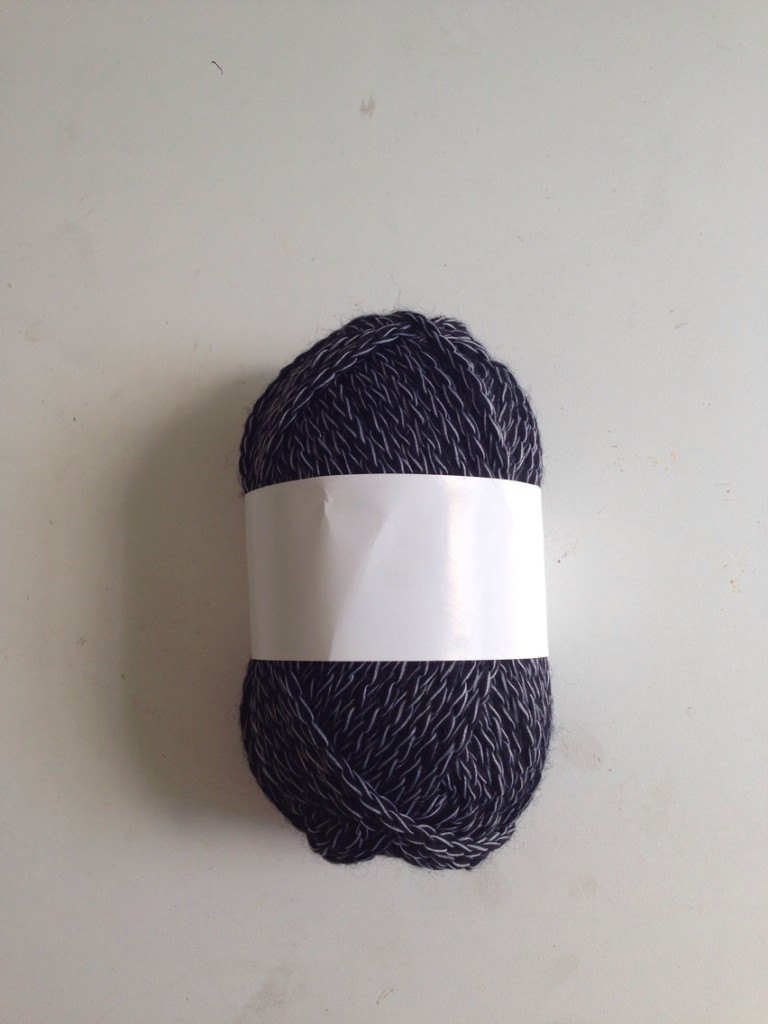 dark acrylic yarn ball