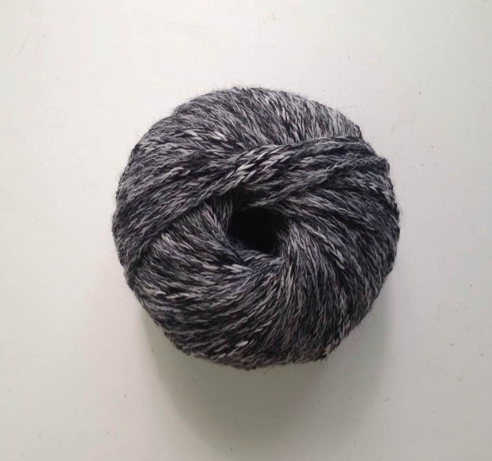 dark wool yarn ball